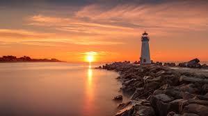 sunset light house